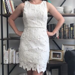 ASTR White Floral Mini Dress